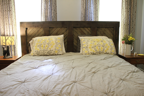 DIY Barn Door Headboard | Burritos and Bubbly