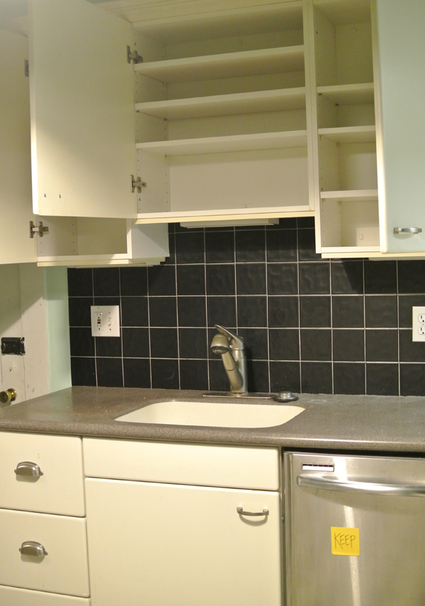 kitchen cleared for demo | burritos and bubbly