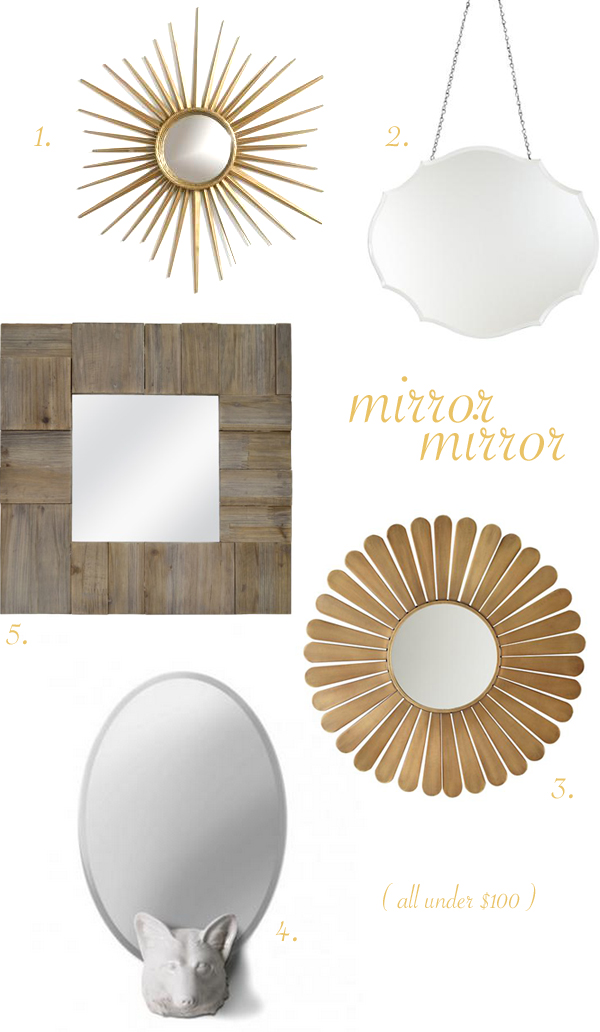 mirror roundup, under $100 | BurritosandBubbly.com