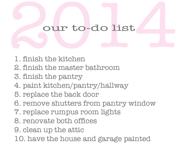 Burritos & Bubbly 2014 to do list