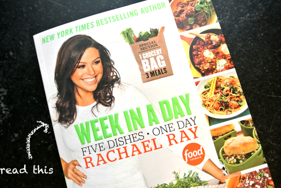Rachael Ray's Week in a Day cookbook