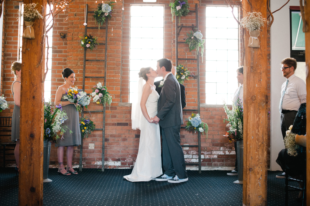 Our vintage country/modern industrial wedding in Cleveland!