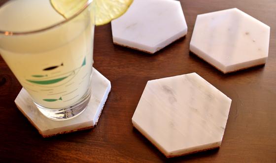 marble coaster DIY from BurritosandBubbly.com