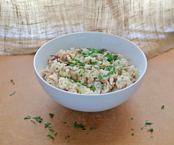 this is our go-to recipe for rice pilaf