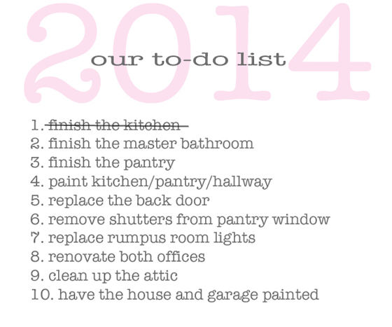 2014 to-do list -- updated