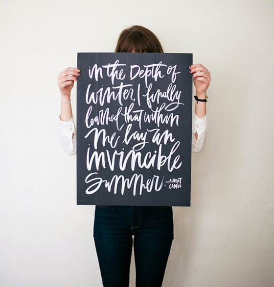 camus quote by oh my deer on Etsy