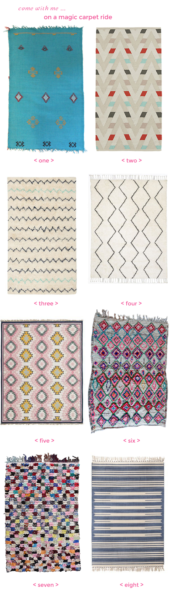roundup of pretty rugs | Burritos & Bubbly