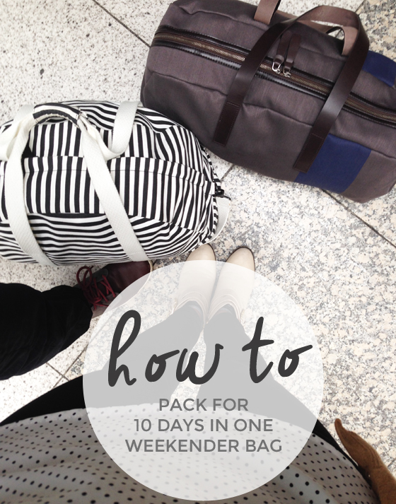 packing for 10 days in one weekender