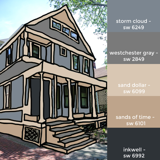 house colors mockup