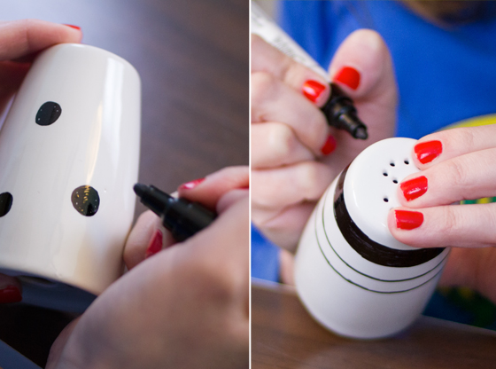 DIY painted salt & pepper shakers (with a sharpie) | Burritos and Bubbly