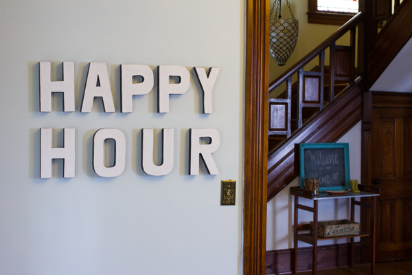 DIY happy hour sign