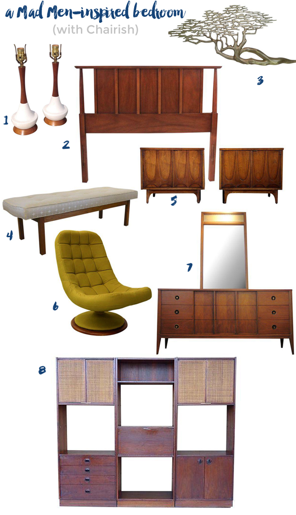 Mad Men-inspired bedroom with Chairish | Burritos and Bubbly