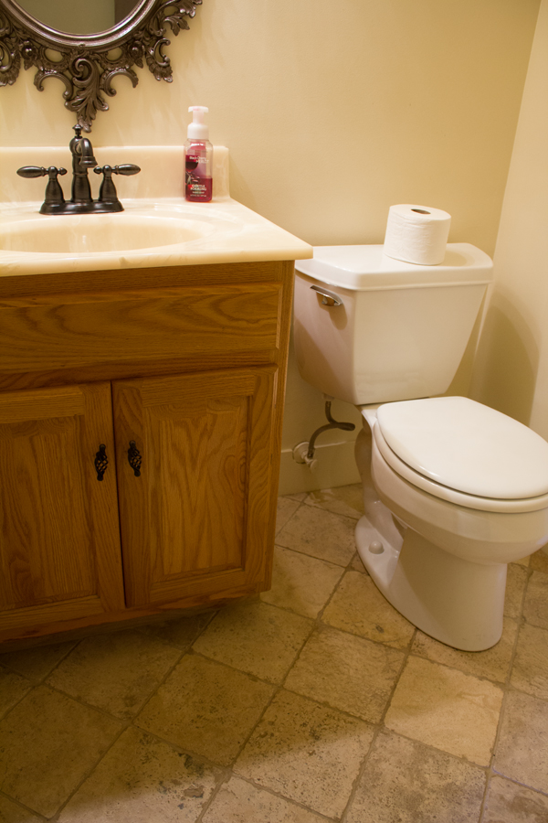 The half bath / Burritos and Bubbly new house tour, part one!