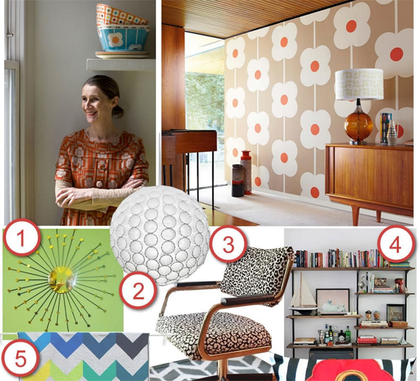 DIY the Room: Orla Kiely's Midcentury Home Tour