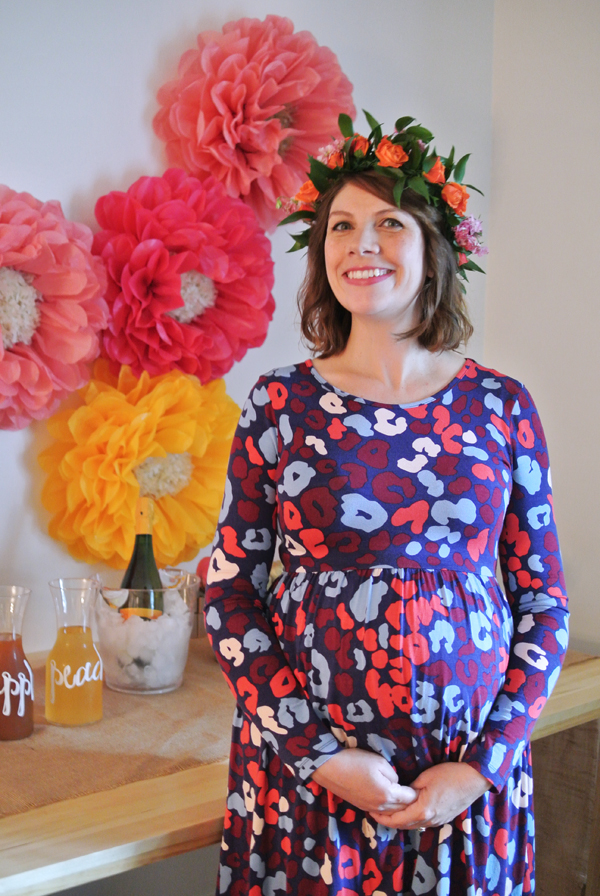 fall floral-themed baby shower   Burritos and Bubbly