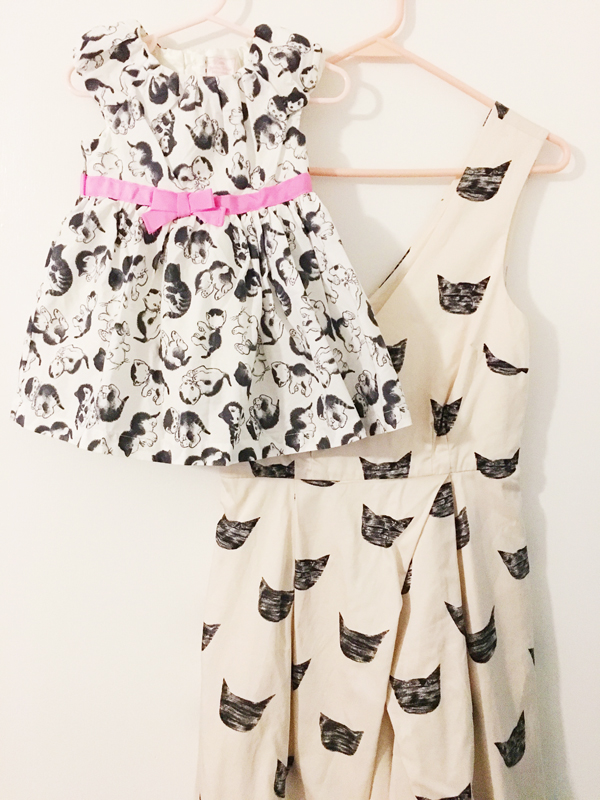 cat dresses for mom and baby