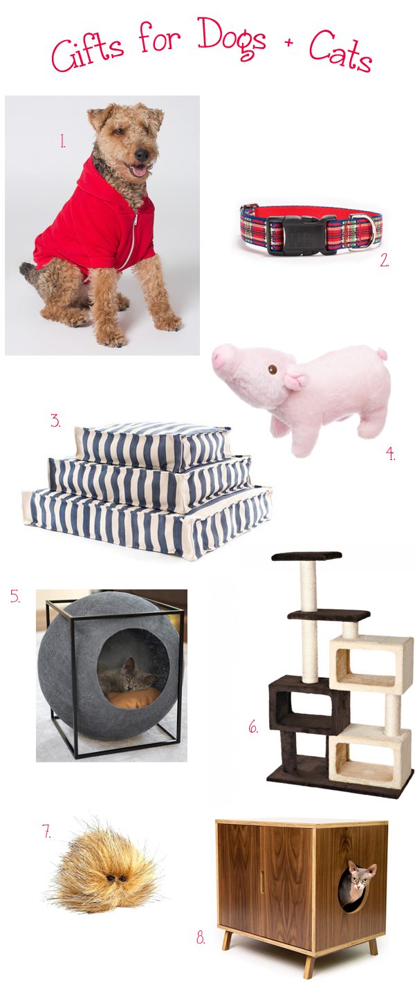 Gift Guide for the Cats + Dogs!