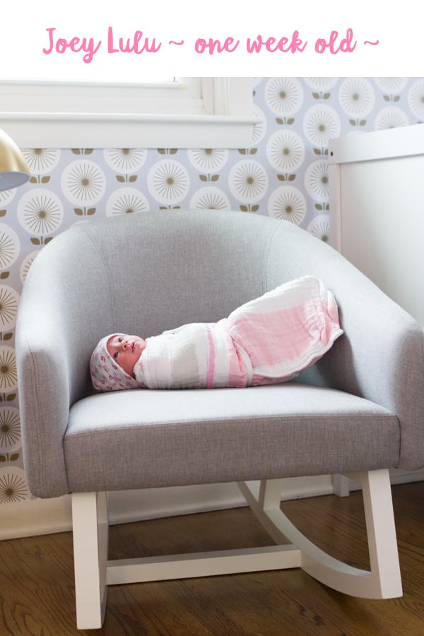 Introducing Joanna Lulu, one week old