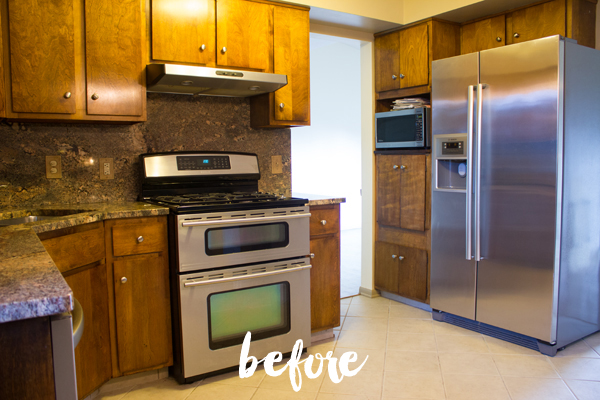 our kitchen -- before