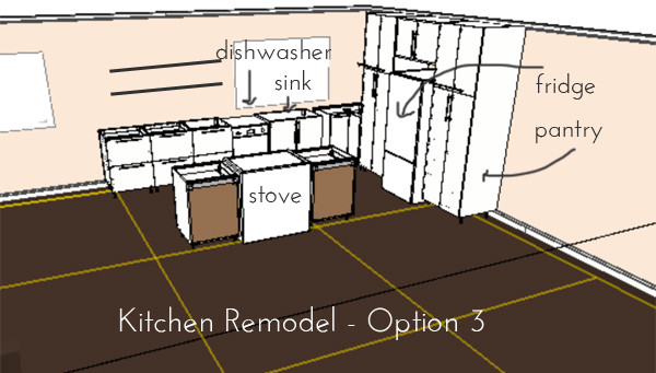 kitchen remodel plans - option 2