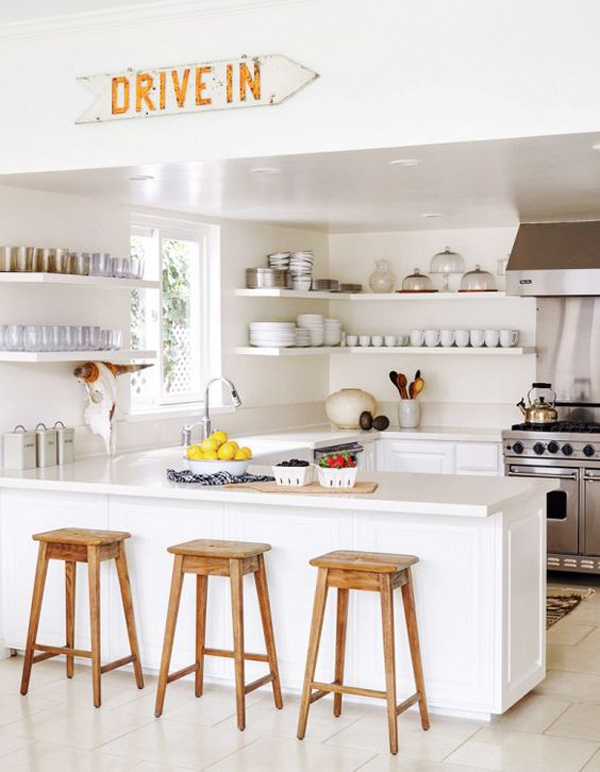 inspiration: modern white kitchen