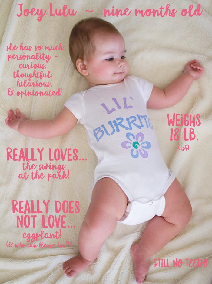Joey Lulu, nine months old