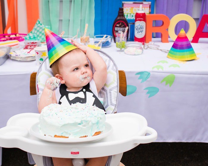 I/'m One Mini Party Hat in Rainbow Sherbet First Birthday Kid Toddler Baby